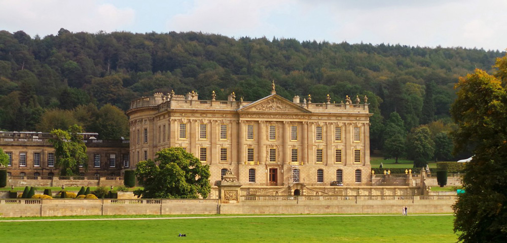 Chatsworth House, façade ouest
