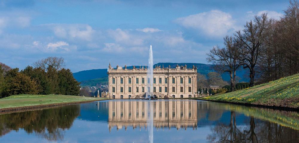 Chatsworth House, Derbyshire, façade sud. Utilisé comme Pemberley dans le filme de 2005 de Orgueil et préjugés