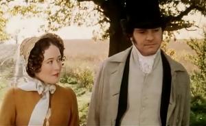 Elizabeth Bennet et Fitzwilliam Darcy, demande en mariage, Orgueil et préjugés, 1995, BBC