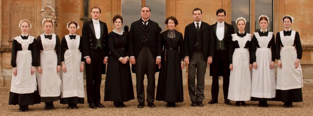 Domestiques de la série télé Downton Abbey