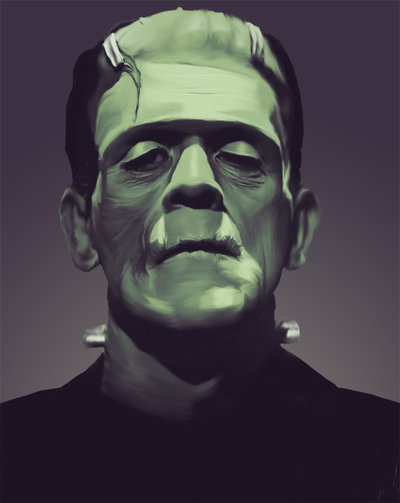 Illustration du monstre de Frankenstein par Scott Clayton Fraley