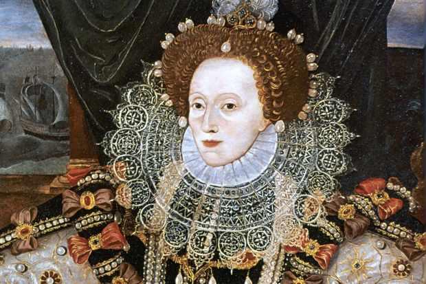 Portrait d'Elizabeth Ière, par George Gower, vers 1588.