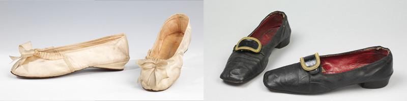 Souliers ou chaussons de danse de l'époque Régence, pour femme et homme