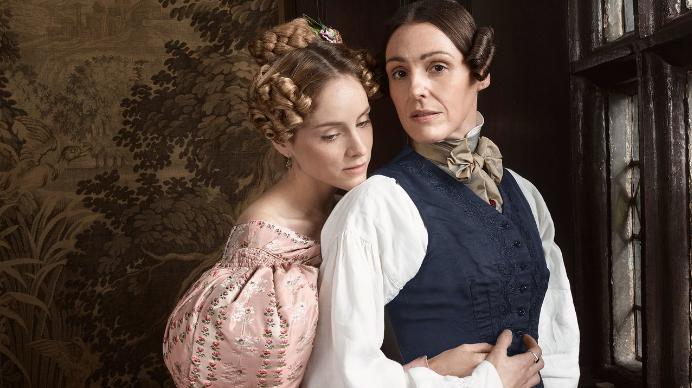 """Anne Lister et Ann Walker, dans la série télé """"Gentleman Jack"""" (HBO, 2019)"""