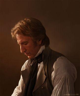Alan Rickman, dans son rôle du colonel Brandon, porte une cravate noire, qui est le signe des militaires