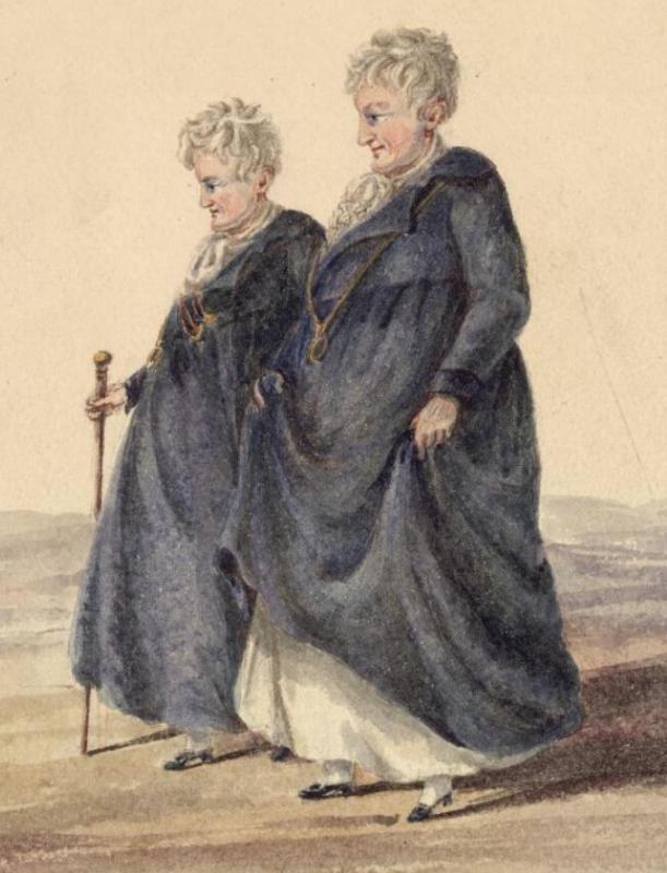 Les dames de Llangolen étaient un couple de lesbiennes célèbre au début du XIXème siècle, à une époque où l'homosexualité n'était pas acceptée
