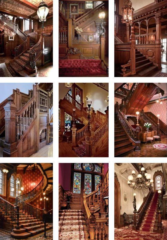 Exemples d'escaliers de maîtres de l'époque victorienne