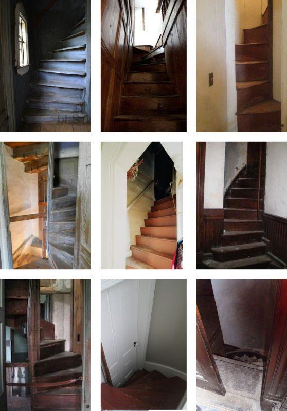 Exemples d'escaliers de serviteurs de l'époque victorienne