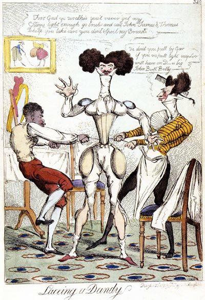 Caricature de dandy anglais