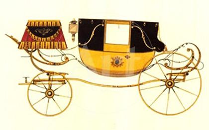Voiture à cheval : exemple de berline