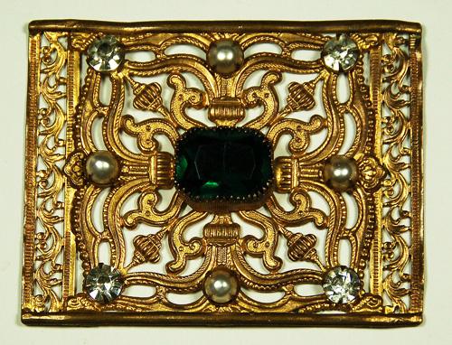Accessoire de théâtre (boucle de ceinture) du XIXème siècle