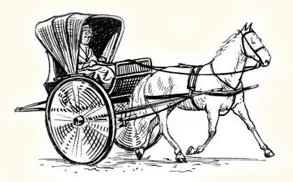 Voiture à cheval : exemple de chaise