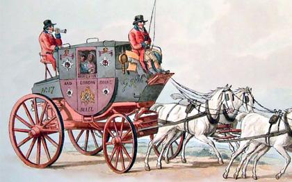 Voiture à cheval : exemple de malle-poste