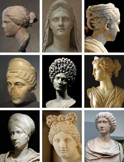 Exemples de coiffures grecques et romaines qui ont inspiré le style néo-classique