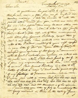Lettre écrite au XIXème siècle