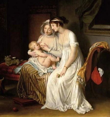 """""""La nourrice"""", par Marguerite Gérard (début XIXème siècle)"""
