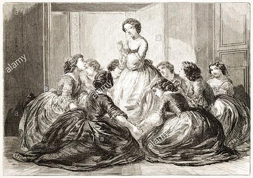 Jeu du Furet, par Jules Géruzet (1858).