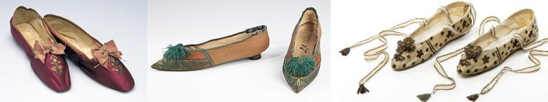 Chaussures de bal de l'époque Régence (vers 1800-1810)