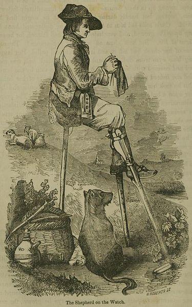 """Le berger pendant sa garde"", par Matthew Forrester (1855)"