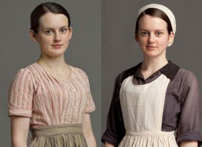 """Évolution dans la hiérarchie des domestiques de Daisy, fille de cuisine dans la série tv """"Downton Abbey"""""""
