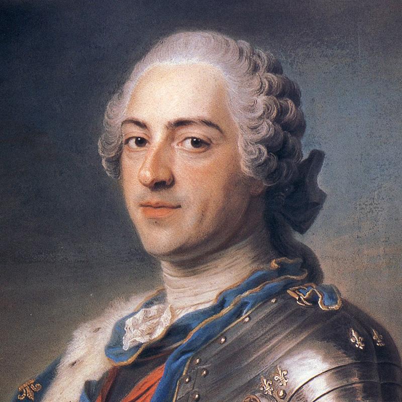 Portrait de Louis XV par Maurice Quentin de La Tour (1748)