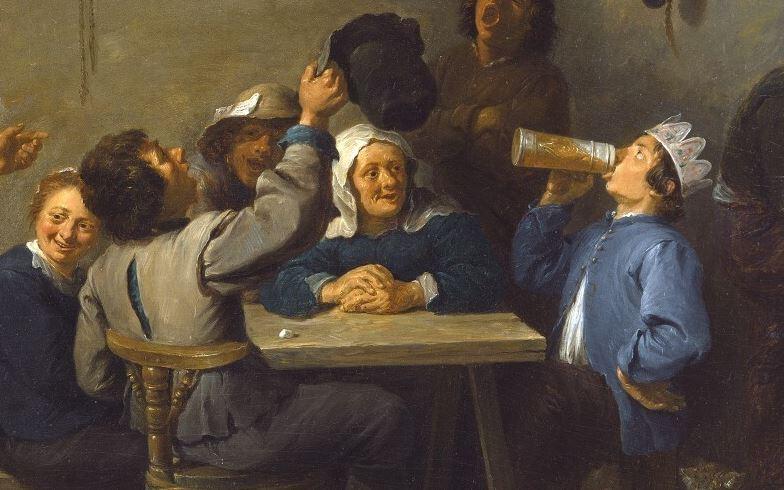Paysans fêtant la Nuit des Rois (David Teniers Le Jeune, 1635)