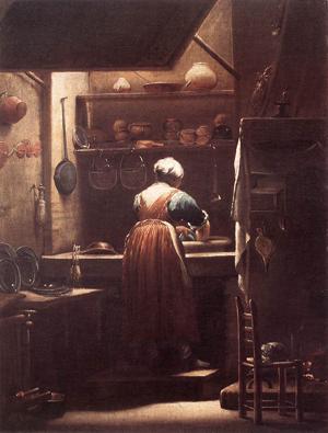 """La fille de cuisine"" par Giuseppe Maria Crespi (1715)"