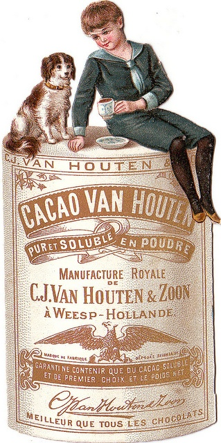 Ancienne publicité du cacao en poudre Van Houten