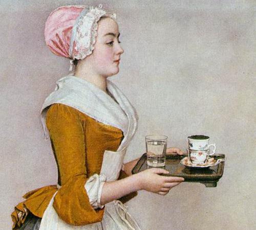 « La fille au chocolat », par Jean-Etienne Liotard (fin XVIIIème)