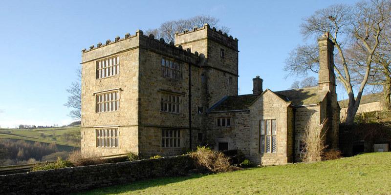 """Manoir de North Lees Hall, qui aurait servir d'inspiration à Charlotte Brontë pour représenter Thornfield dans son roman """"Jane Eyre"""""""