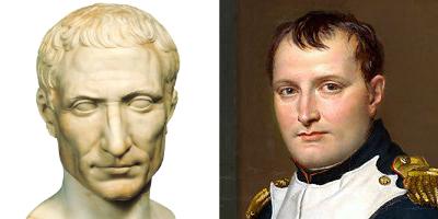 Coiffure népo-classique à la César