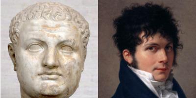 Coiffure néo-classique à la Brutus, ou à la Titus