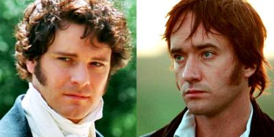 Comparaison des coiffures de Mr. Darcy, version avec Colin Firth ou avec Matthew Macfadyen