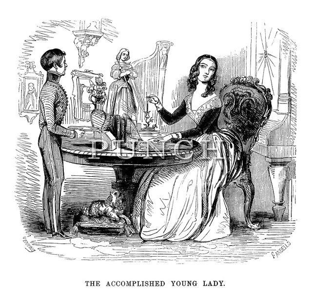 """""""La jeune fille accomplie"""", gravure du XIXème siècle"""