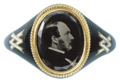 Bague de deuil en mémoire du Prince Albert, décédé en décembre 1861