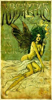 Affiche absinthe la fée verte