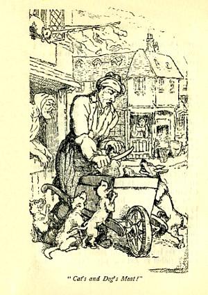 Vendeur de viande pour chiens et chats, 1885